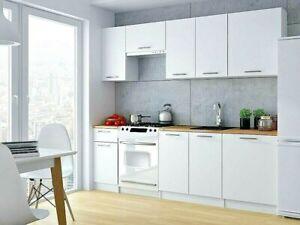 Cocina completa diseño moderno 240 cm color blanco mate (KIT 7 módulos)