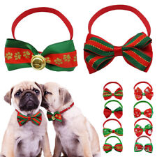 100pcs Wholesale Christmas Dog Collar Cat Puppy Bow Necktie Necklace Accessory