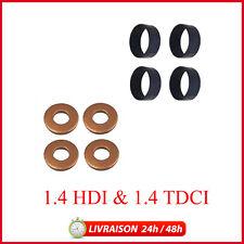 X4 Joint (bague) d'injecteurs + protecteurs C1/C2/C3/Fiesta/107 1.4 Hdi 1.4 TDCI