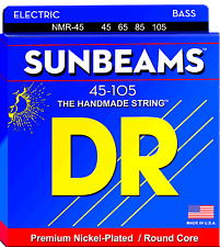 DR Strings NMR-45 SUNBEAM Nickel Plated Bass Guitar Strings - Medium