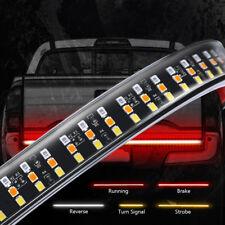 "60"" Triple Tailgate Light Bar LED Strip Amber Turn Signal Red Brake Reverse Lamp"
