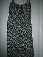 Ladies summer dress size 6 Black with horse pattern