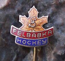 Antique Sokol Felbabka Ice Hockey Team Czechoslovakia Leaf Logo Pin Badge