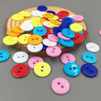 DIY 100pcs Mixing colors Resin Button Fit Sewing Scrapbook Decorative craft 13mm
