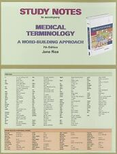 Study Notes for Medical Terminology: A Word Building Approach-ExLibrary