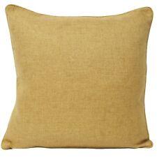 "Paoletti Atlantic Woven Twill Piped Cushion Cover Ochre 22x22"""