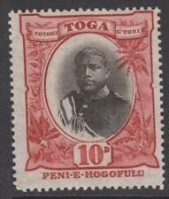 TONGA SG49 1897 10d BLACK & LAKE MNH