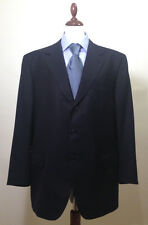 Brioni Nomentano Royal Navy Blue Side Vents Super 150's 3 Button Wool Suit 54 L