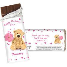 PERSONALISED FLOWER GIRL GIFT Teddy Bear Chocolate Bar FunThank You Present Idea