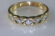 Men's 14K Gold 5 Diamonds Wedding Anniversary Ring Band Sz.11.75