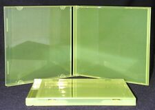 (10) CDBS10TL Translucent Yellow Green Colored CD Jewel Boxes Empty Cases
