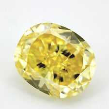3.50 ct GIA fancy vivid yellow VS2 oval solitaire diamond engagement ring platin