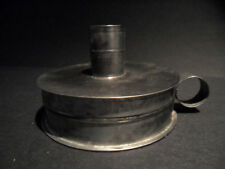 Antique Style Tin Candle Holder Tinder Box Toleware