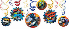 Blaze And The Monster Machines Party Supplies SWIRL DECORATIONS Pack Of 12