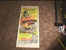 MACUMBA LOVE 1960 INSERT 14X36 MOVIE POSTER HORROR VOODOO