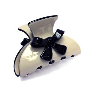 Moliabal Milano Medium Claw- Ivory   Ebony Bow   Ebony Trim