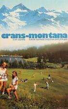 Original Plakat - Crans-Montana sur Sierre - Suisse