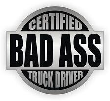 Certified Bad Ass Truck Driver Hard Hat Sticker | Welding Helmet Decal | Trucker