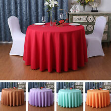 Solid Round Polyester Tablecloth Wedding Hotel Party Banquet Events Decoration