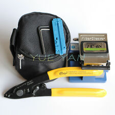 6pcs FTTH Splice Fiber Optic Tool Kits Fiber Stripper FC-6S Fiber Cleaver Cutter