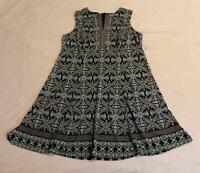 Liz Claiborne Women's Sleeveless Floral V-Neck Dress SC4 Blue Size 20W NWT