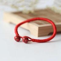 Lucky Red String Bracelets Hand Braided Ceramic Bead Bracelet Men Women Jewelry