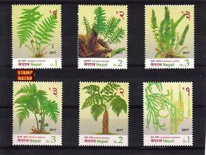 Nepal 2017 Ferns Plants series Nature stamp set 6v MNH