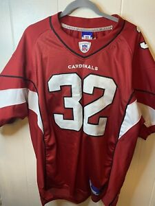 VGT AZ Cardinals Edgerrin James 32 Reebok NFL Equipment Red Jersey  Size 50