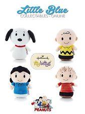 * PEANUTS * Hallmark Itty Bittys Bitty X4 * Snoopy, Charlie Brown, Linus, Lucy *