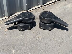 60's Complete Porsche 912 356 Knecht Air Cleaners W/ Filters, Bases, & Housings