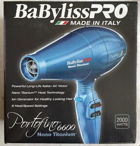 BaByliss PRO Portofino 6600 Nano Titanium Dryer 2000 Watts Italy