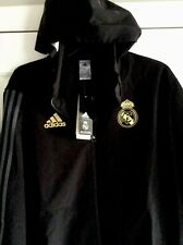 Adidas Real Madrid tracksuit 19/20, Men's Large Black With Gold Trim. Brand New.