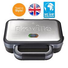 Breville Stainless Steel Sandwich Toaster Deep Fill Vst041 Silver Maker New 2
