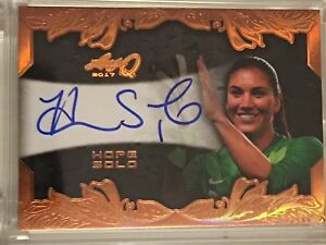 Hope Solo 2017 Leaf Q Autograph Bronze Card USA Soccer Gold Medal World Cup