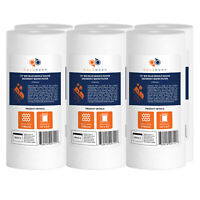 """6-PACK of Aquaboon Sediment Water Filter Whole House Big Blue 5 Micron 10""""x4.5"""""""