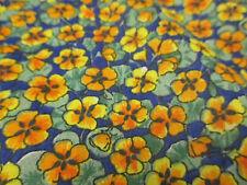 4 Metros Naranja Diseño Amapolas, Floral Tela Polycotton