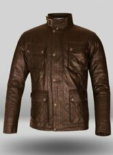 Men's Leather Jacket Genuine Sheepskin Designer Brown Jacket Motorcycle