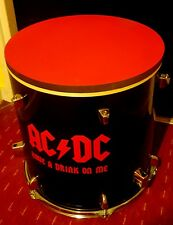 *ACDC* Upcycled floor Tom Drum Coffee/Side Table with storage inside #