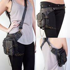 Steampunk Bag Waist leg Hip Holster Purse Pouch Belt Bag Cyberpunk Fanny Packs