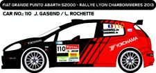 DECALS 1/43 FIAT PUNTO ABARTH #110 - GASEND - RALLYE CHARBONNIERES 2013 - D43209