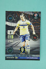 Panini Adrenalyn XL Road to Uefa Euro 2016 Zlatan Ibrahimovic  Limited Edition
