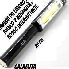 TORCIA LAMPADA LAVORO PORTATILE EMERGENZA A LED STRIP CALAMITA DA LAVORO Q5