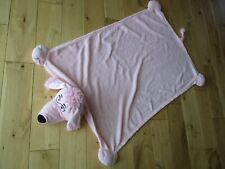 "JAY & PLAY 'Cuddle Uppets' Pink Fleece DOG PUPPET, Plush 28"" x 40"" Blanket"