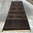 Hand Knotted Vintage Afghan Balouchi Gilam Kilim Kilm Area Runner 10 x 3 Ft