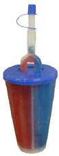TWO FLAVOUR CUPS WITH BENDY STRAW mixed colour x 8