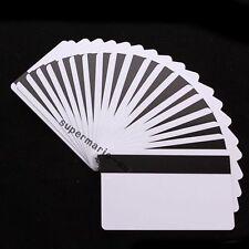 50x blank CR80 ID ISO PVC Credit Card HiCo 1-3 Magnetic Stripe ~PVC Card Printer