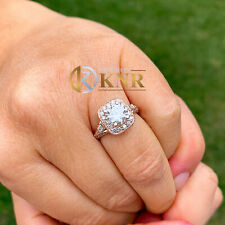 14k Rose Gold Round Forever One Moissanite and Diamond Engagement Ring 1.85ct