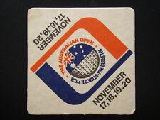 GOLF THE AUSTRALIAN OPEN NOVEMBER 17 18 19 20 W.D. & H.O.WILLS BULLETIN COASTER