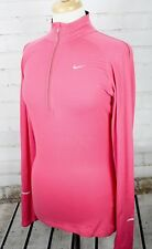 NIKE Element Thermal 1/2 Zip Fitness Jacket Mock Neck Top Womens S Dri-Fit Pink