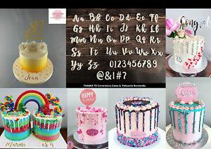 BROMELLO CAKE Font full Alphabet Stamp - Fondant Embosser Cake
